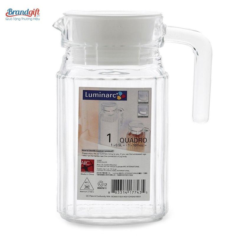 Bình thủy tinh Luminarc G2667dung tích 0,5 lít đẹp