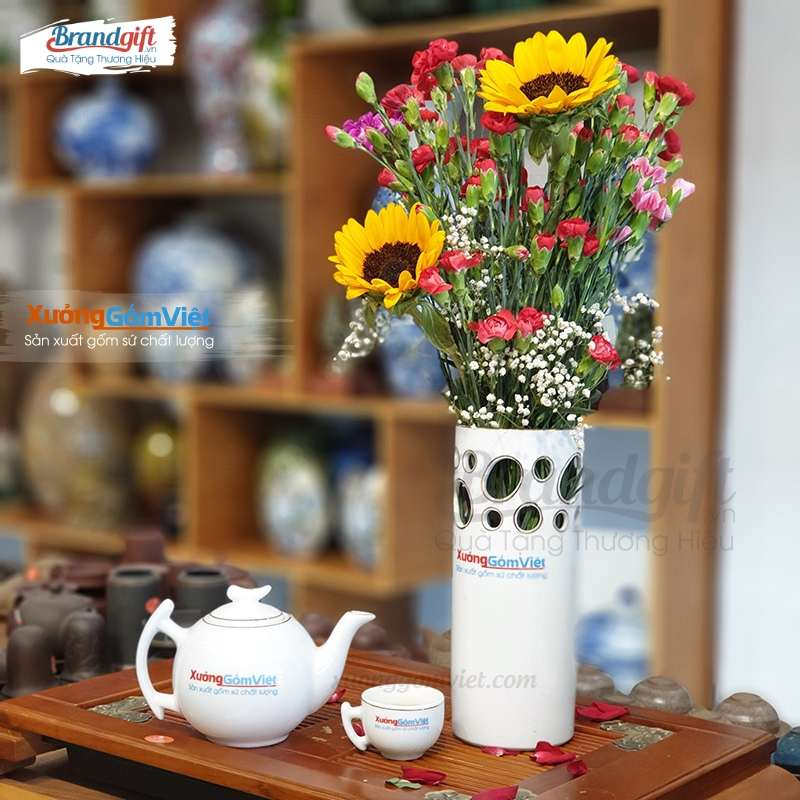 Lọ hoa sứ trắng LHS-CV11 giá rẻ