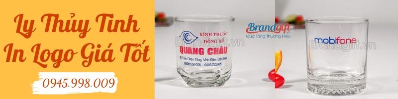 Đơn vị cung cấp ly thủy tinh in logo brandgift