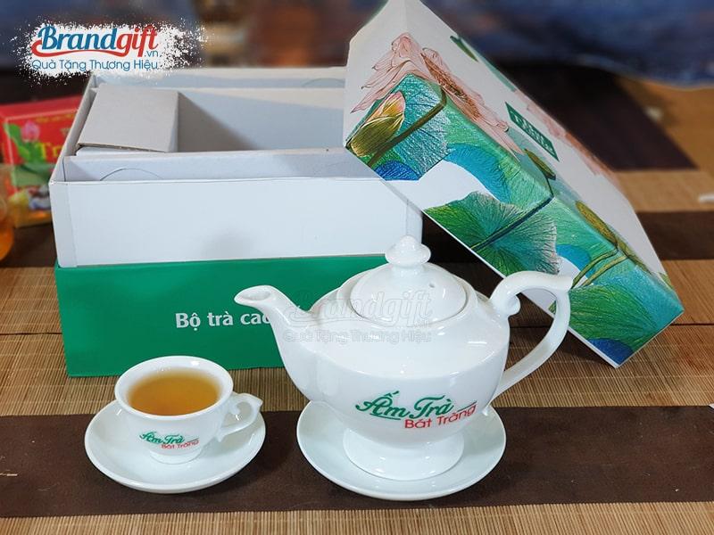 Bộ trà sứ trắng AT-04