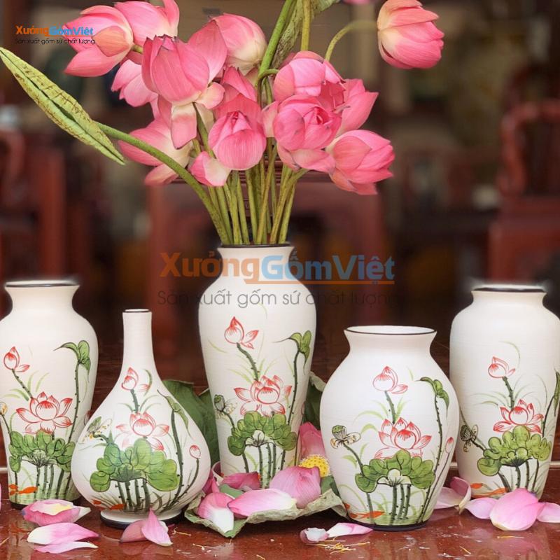 bình hoa làm quà tặng gốm sứ Tết 2021