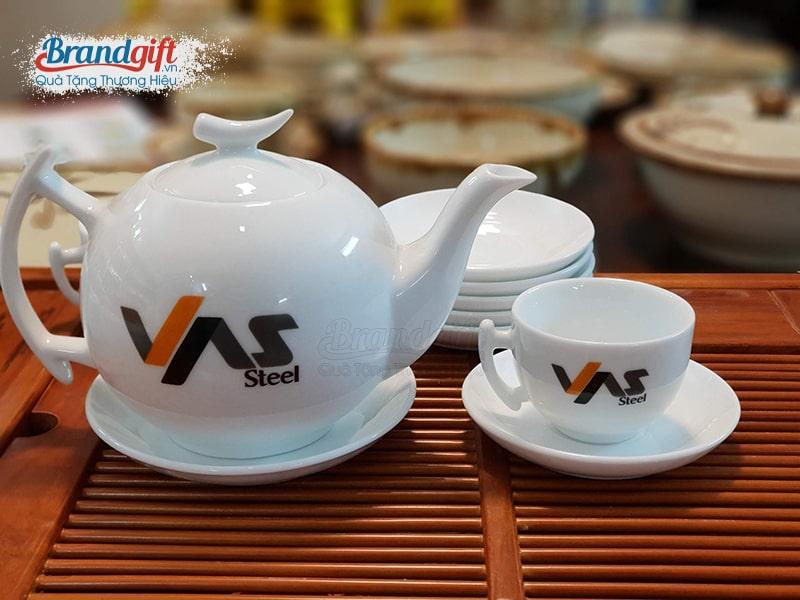 Bộ trà sứ trắng AT-09