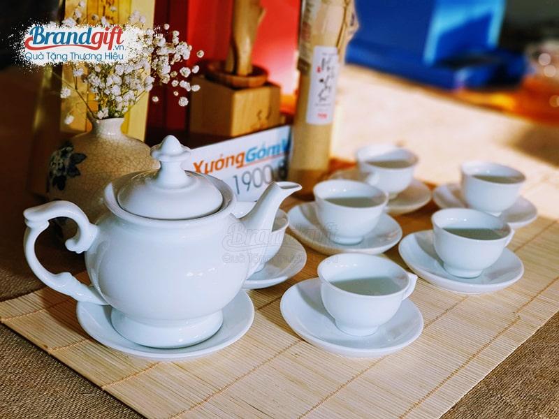 Bộ trà sứ trắng AT-21