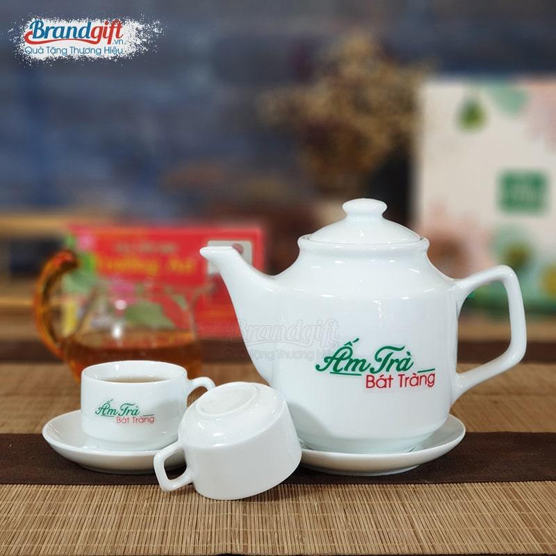Bộ ấm trà có in logo