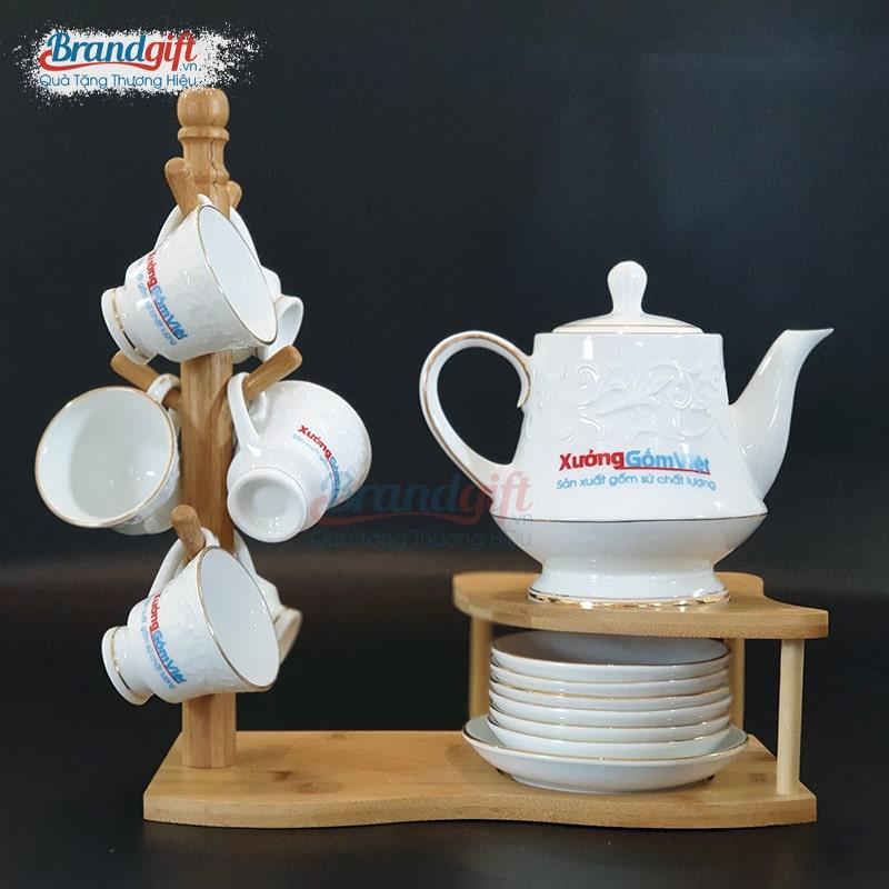 Bộ ấm trà viền kim ATKVN-10