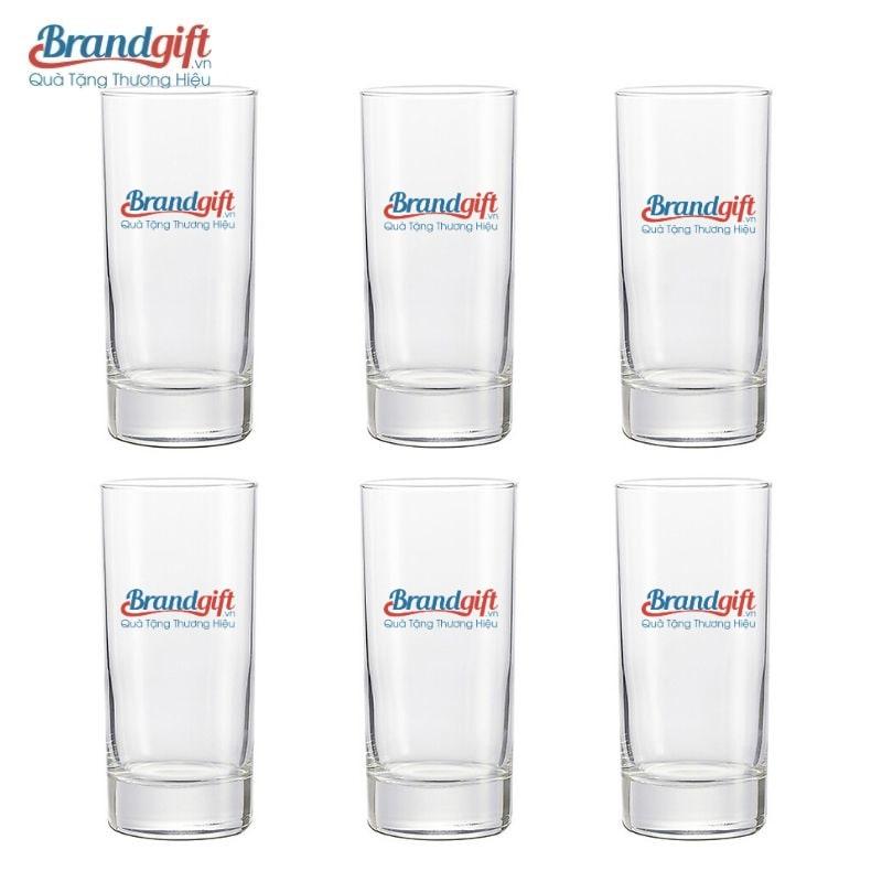 Bộ ly thủy tinh Luminarc uống nước in logo đẹp