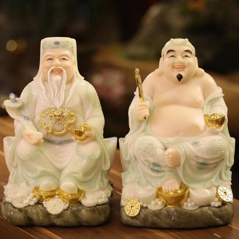 tượng thần tài thổ địa bằng gốm sứ Bát Tràng