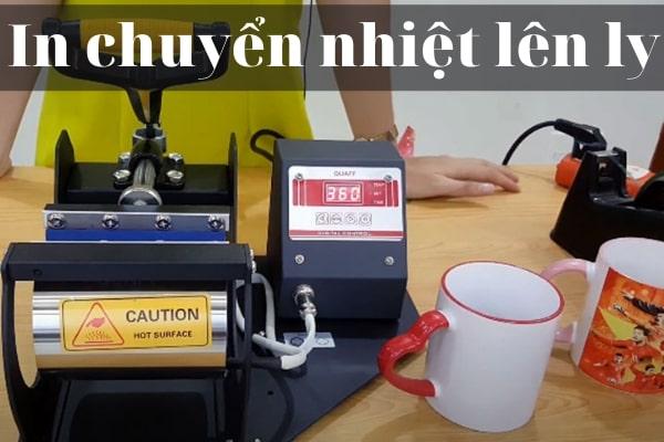 kỹ thuật in chuyển nhiệt lên ly