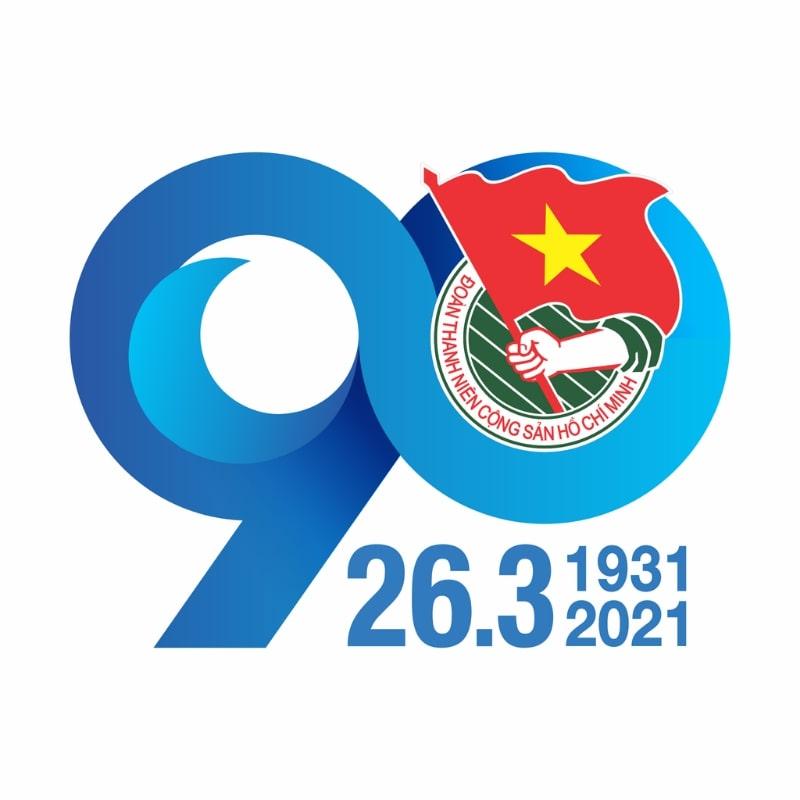 Logo 90 năm thành lập Đoàn TNCS Hồ Chí Minh