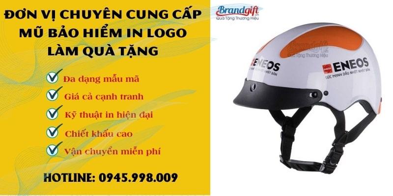 Đơn vị chuyên cung cấp mũ bảo hiểm in logo
